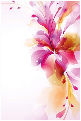 Wallario Glasbild Zentrum der pinken Blume - 60 x 90 cm in Premium-Qualität: Brillante Farben, freischwebende Optik