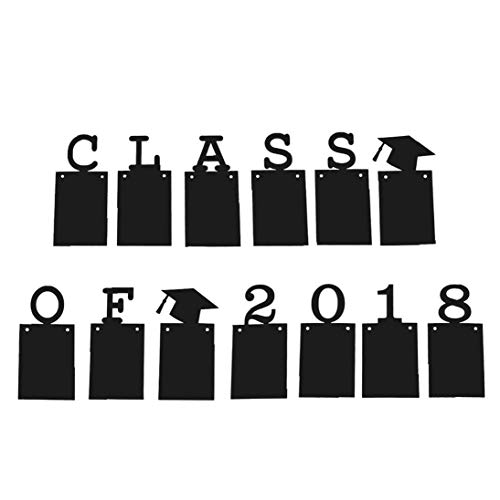 Class of 2018 Graduation Banner Photo Frame Garland Graduation Party Decorations Party Supplies Home Black