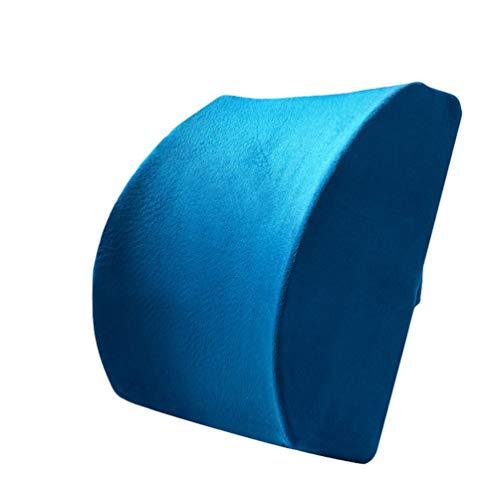 LaoZan Premium Apoyo Lumbar Almohada Espuma de Memoria Lumbar Cojín de Apoyo para Su Casa con Correa Elástica Ajustable Snap (Zafiro#4,32 * 34 * 12cm)