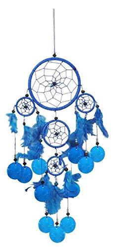 Dreamcatcher Nylon mit Capisscheiben, Farbe:blau