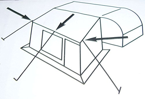 Campiro Sturmband 3 x 5m Sturmsicherung für Vorzelt Vordach Dachhalteband Markisen Pavillion Heringe