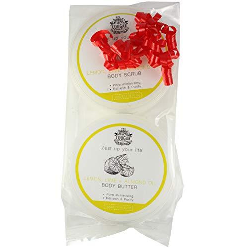 Cougar Lemon Lime & Almond Oil Ladies Toiletry Bath & Body Gift Set
