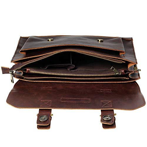 YOUZHA aktetas aktetas boodschappentas van bekend merk voor heren laptoptas heren modieuze schoudertassen voor business reistas, Koffie (bruin) - 6934168939619
