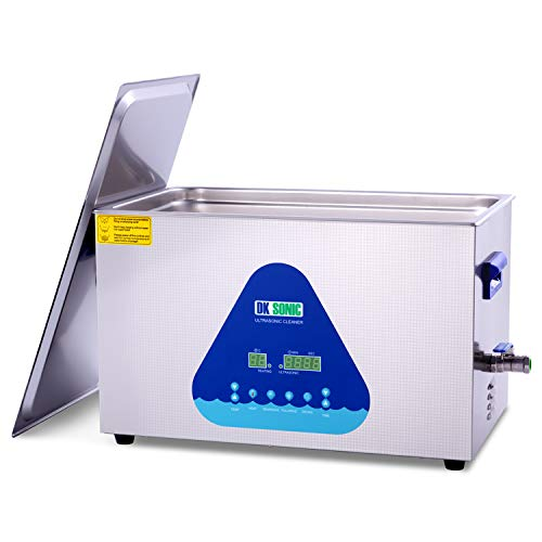 Large Professional Ultrasonic Cleaner-DK SONIC 22L 480W Sonic Cleaner with Heater and Basket for Metal Parts,Carburetor,Fuel Injector,Brass,Auto Parts,Engine Parts,Motor Repair Tools,etc
