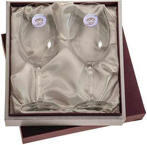 El Faro Copas de Vino Personalizadas - Regalos para Bodas y Aniversarios (Copas Bodas Oro)