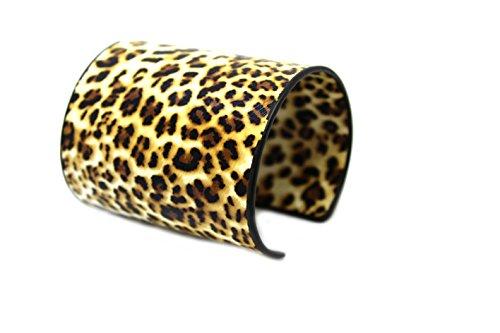 Westland GmbH Dicker Armreif in Tier-Print-Optik (braun/beige/Leopard) 051-00008