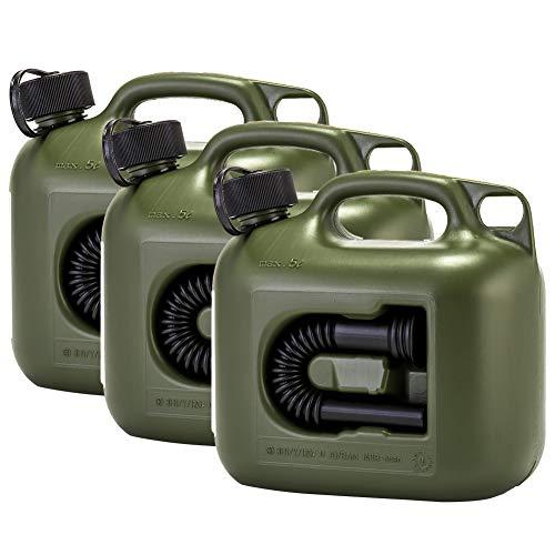 [ ヒューナースドルフ ] Hunersdorff 燃料タンク ポリタンク フューエルカンプロ 5L 3個セット ウォータータンク 800200 オリーブ 燃料 灯油 タンク キャニスター キャンプ [並行輸入品]