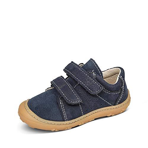 RICOSTA Jungen 73-1222900 Tony Lauflernschuhe Baby Kinder Nubukleder Uni Schuhe, Groesse 25, blau