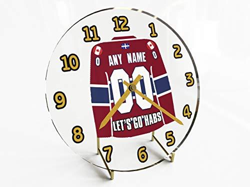 NHL-NATIONAL HOCKEY LEAGUE-EST-CONFERENZA ATLANTIC DIVISIONE JERSEY OROLOGI DA TAVOLO, QUALSIASI NOME, QUALSIASI NUMERO, QUALSIASI TEAM, PERSONALIZZAZIONE!, Donna uomo Bambino, Montreal Canadiens