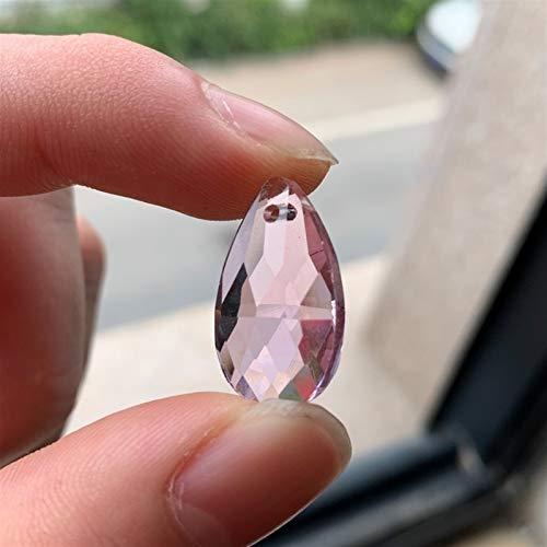 NLLeZ Parte de la lámpara 10pcs Rosa cristalino de la lágrima de Cristal de la lámpara 20MM Prisma Suncatcher DIY Ojo Pendiente Lágrima Tallado