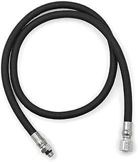 DGX Regulator Scuba Hose, Flex, 40 in | 102 cm}, Black