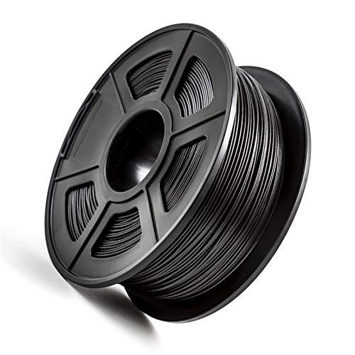 para PETG PLA Fibra de Carbono 1.75 mm Filamento de la Impresora 3D 1kg / 2.2lbs para la Impresora FDM 3D Material Compuesto de Alta Resistencia (Color : PETG Carbon Fiber)