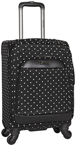 Kenneth Cole Reaction Dot Matrix 20' Lightweight Expandable 4-Wheel Spinner Carry-On Luggage, Black