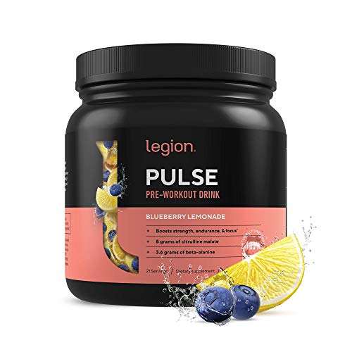 Legion Pulse Pre Workout Supplement - All Natural Nitric Oxide Preworkout Drink to Boost Energy & Endurance. Creatine Free, Naturally Sweetened & Flavored, Safe & Healthy. Watermelon, 21 Servings.