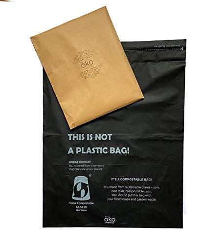 Öko Organics Sobres de envios compostables Bolsas para env�