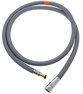 """Pullout Replacement Spray Hose for Moen Kitchen Faucets (# 159560), Beautiful Strong Nylon Finish - Sized Right at 55"""" Inches, Fits in Place of Moen 159560 Faucet Hose by Essential Values"""