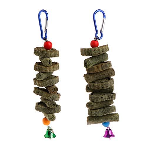 Planuuik Haustierzähne Grass Kekse Perlen hängend Käfig Glocke Kauspielzeug Spielzeug für kleine Haustiere Hamster Eichhörnchen Chinchilla Papageien Vögel Sittiche Kaninchen Meerschweinchen Produkte