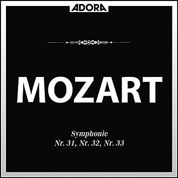 Mozart: Symphonien No. 31, No. 32 und No. 33