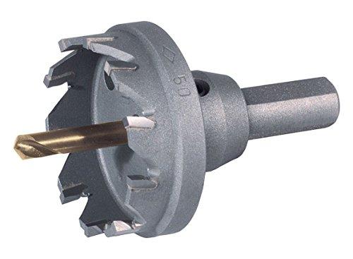 Ruko 105050 Corona perforadora de metal duro, Negro, 50 mm