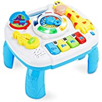 Baccow Musical Educational Learning Activity Table Center (9.7 x 8.7 x 7.1 Inches)