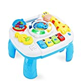baccow Baby Toys 6 to 12-18 Months Musical Educational Learning Activity Table Center Toys for Toddlers Infants Kids 1 2 3 Year Olds Boys Girls Gifts Size 9.7 x 8.7 x 7.1 Inches