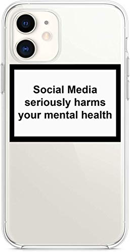 YENIGHT HYPExSTORE Social Media Seriously Harms Your MENTAL Health iPhone Cover CASE Tasche HÜLLE (iPhone 11)