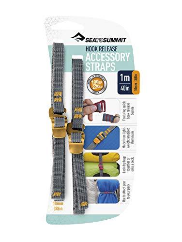 Sea To Summit Spanngurte Hook Release Straps mit Schnellverschluss, Grau