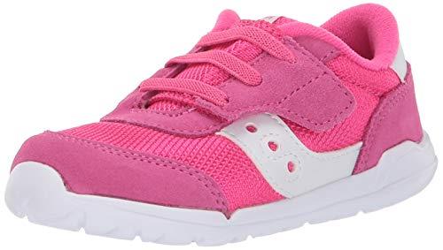 Saucony girls Jazz Riff Sneaker, Pink/White, 10 Wide Little Kid US