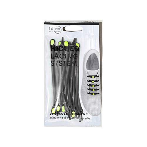 HICKIES Elastische Tie-Free Schuhbänder (2.0 Neu) - Schwarz/Gelb