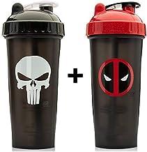 2 x Marvel Protein Shaker Bottles 800ml Punisher Deadpool Estimated Price : £ 34,99