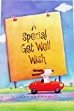 A Special Get Well Wish Greeting Card - Dog in Race Car Speedy Recovery