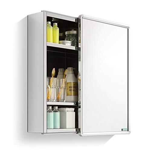 Spiegelkasten RVS links en rechts schuifdeur badkamer opbergkast spiegel muur gemonteerde spiegel doos