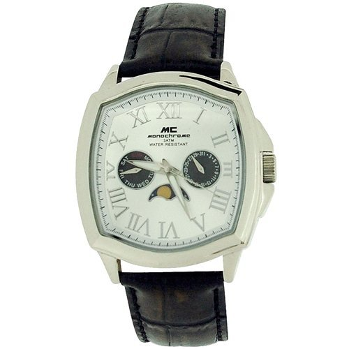 Monochrome WB100405 - Reloj para Hombres, Correa de Cuero Color marrón