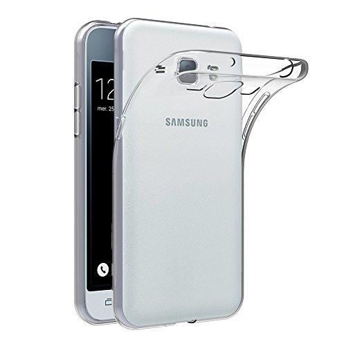 AICEK Cover Compatible with Samsung Galaxy J1 2016 Custodia, for Galaxy J1 2016 J120 4.5 Pollici Silicone Caso Molle di TPU Trasparente Sottile Case Posteriore Protezione Anti-Urto per Galaxy J1 2016