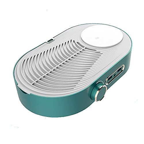 XJZKA Nettoyeur de Ventilateur d'aspiration de collecteur de poussière d'ongle Machine Rechargeable d'aspirateur d'ongle avec l'éclairage Manucure Outil d'extracteur de pédicure Équipeme