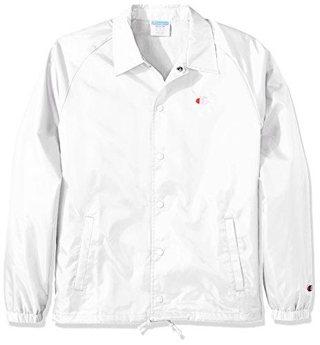Champion LIFE Men's Coaches Jacket West Breaker Edition, White, XL
