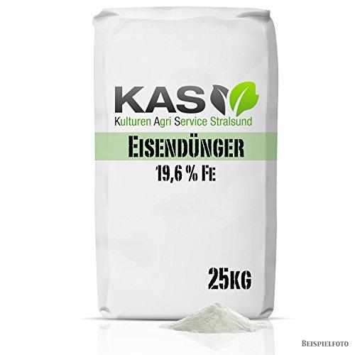 Eisendünger Eisensulfat 25 kg als Rasendünger für einen besonders grünen Rasen zum Streuen mit dem Streuwagen oder Gießen (25kg) - kein Pflanzenschutzmittel