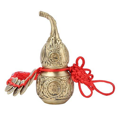 Famus Pur Laiton WU Lou Cucurbit Gourd D/écoration /À La Maison Symbole De Chance Et De Tr/ésor