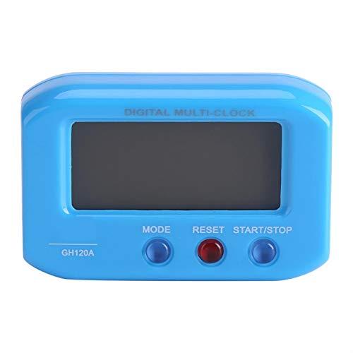 Omabeta Mesa de Escritorio Reloj Digital Despertador para Regalo de Escritorio(Blue)