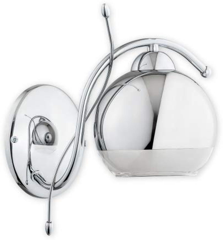 Wandleuchte modern Stahl Glas E27 Trama