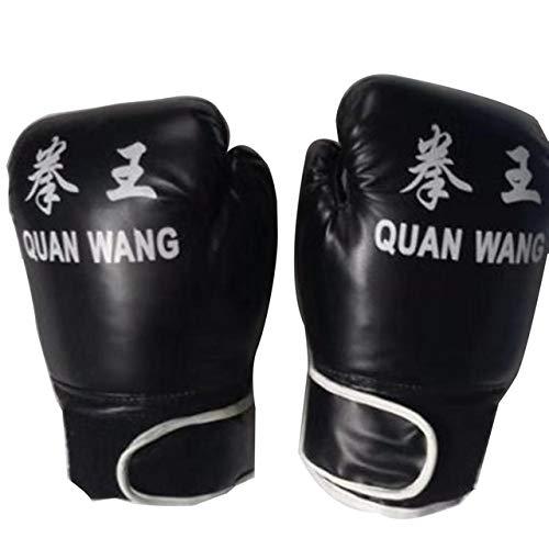 DJLHN Erwachsene Boxhandschuhe PU-Lederhandschuhe KampfhandschuheProfessionelle Sandsack Liner Handschuhe Für Männer Frauen Training Kampfwerkzeug - schwarz, Russische Föderation