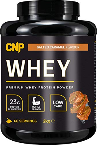 CNP Whey Protein, Premium Protein Powder, 66 Servings, 2kg, Muscle Building Formula, Low Carb, Low Fat (CNP Whey Salted Caramel, 2kg)