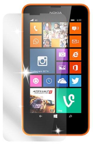dipos I 2X Schutzfolie klar kompatibel mit Nokia Lumia 630 / Lumia 635 Folie Bildschirmschutzfolie