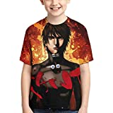 KFEOFILKDFAS Gantz - Camiseta de manga corta para niñas con cuello redondo y cuello redondo