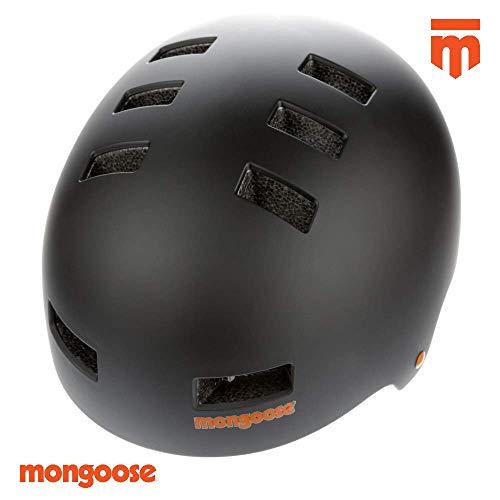 Mongoose BMX Scooter Skate Helmet LG BLK Casco, Unisex