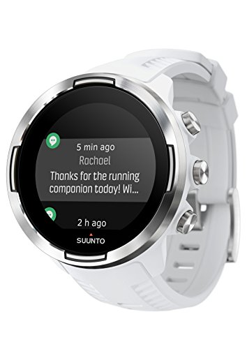 Suunto 9 GPS Sports Watch with Long Battery Life, Barometer and Wrist-Based Heart Rate - White