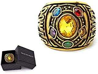 Wooworld Infinity Stones Ring Inspirational Power Ring Thanos Ring Cosplay Costume Prop