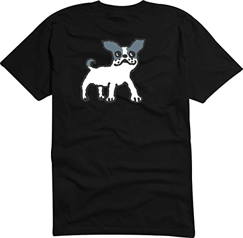 Black Dragon - T-Shirt D916 T-Shirt Herren schwarz XXL - Design Tribal Comic - Grafik Haustier Hund - rennender Kleiner Boston Terrier - Fasching Party Geschenk Funshirt