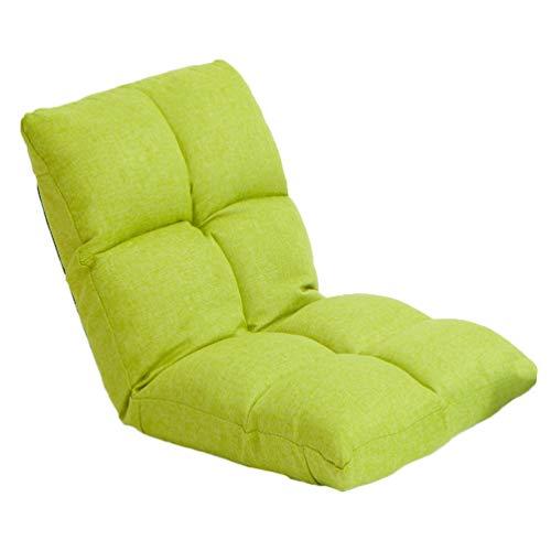 Lazy Sofa Gepolsterter Stuhl Mit Verstellbarer Rückenlehne, Bodenstuhl Meditationsstuhl Für Beim Lesen, Tvschauen Gaming, Tatami-Matten Bodenstuhl,Emeraldgreen