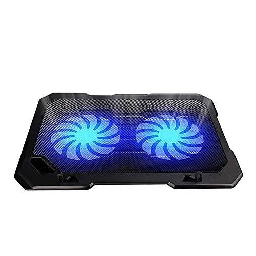 NCRD Almohadilla de enfriamiento for portátil for laptop con 2 ventiladores tranquilos, soporte de la almohadilla de enfriamiento del refrigerador portátil for la computadora portátil, la base del ven